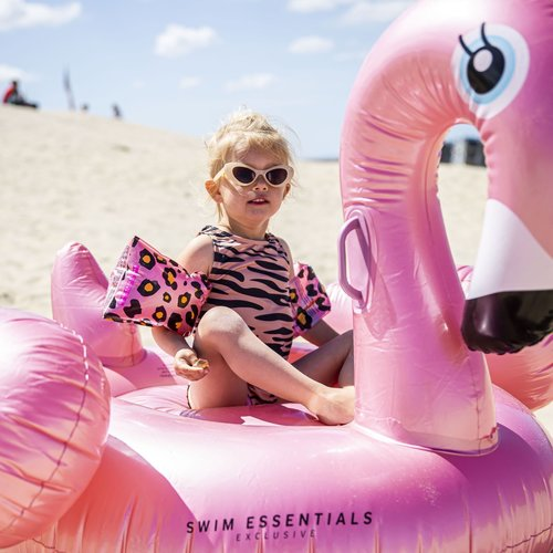 Swim Essentials Swim Essentials Luchtbed Zwaan Opblaasbaar Rosé Goud XL