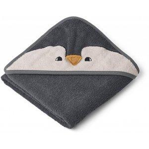 Liewood Badcape Albert  | Penguin stone grey