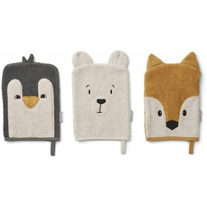 Liewood Washandjes Sylvester | 3 pack Artic Mix