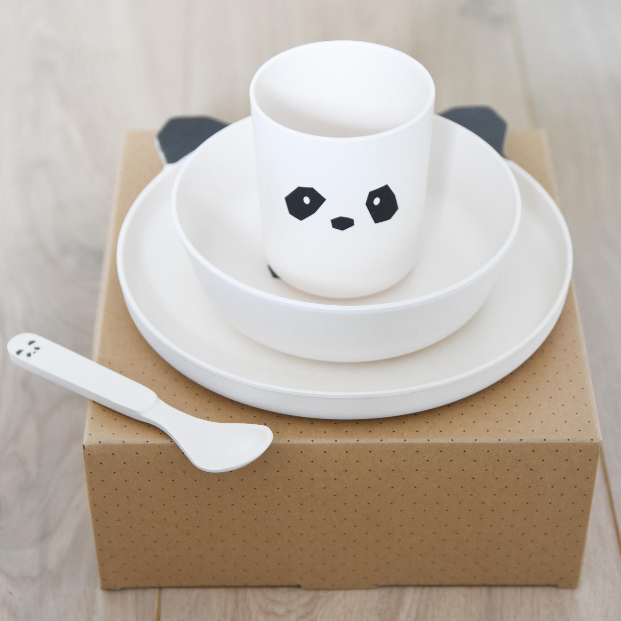 Liewood servies panda creme de la creme