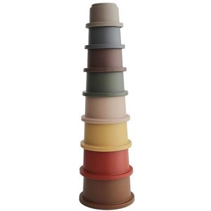 Mushie Mushi stapeltoren stacking cups Retro