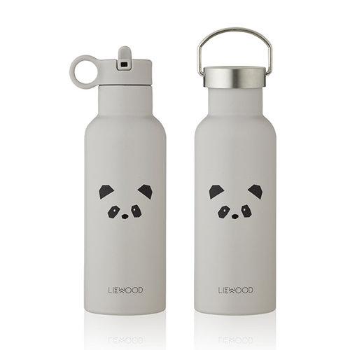 Liewood Liewood Drinkfles Neo | Panda licht grijs