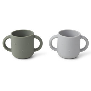 Liewood Liewood Gene silicone cup - 2 pack | Rabbit Faune Green