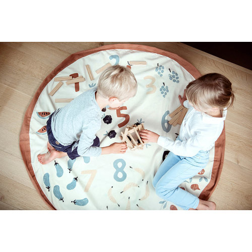Play and Go Play and Go Opbergzak en speelkleed | Veggie numbers