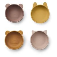 Liewood bakjes Iggy silicone bowl | Rose mix (set van 4)