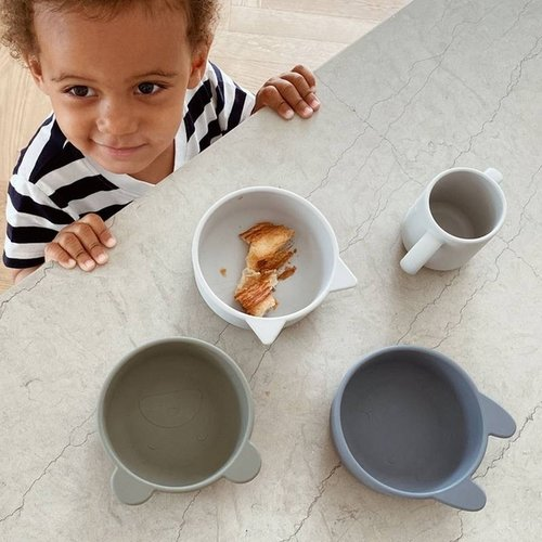 Liewood Liewood bakjes Iggy silicone bowl | Blue mix (set van 4)