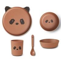 Liewood servies set | Panda Tuscany Rose