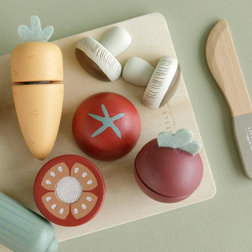 Little Dutch Little Dutch | Houten speelgoed snijset groente