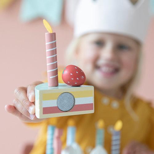 Little Dutch Little Dutch | Houten speelgoed verjaardagstaart XXL
