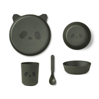Liewood servies set | Panda Hunter Green