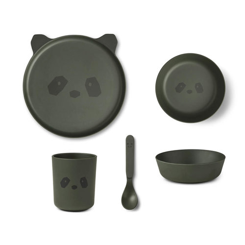 Liewood Liewood servies set | Panda Hunter Green
