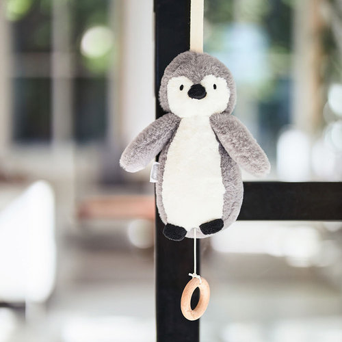Jollein Jollein Muziekhanger Pinguin | Storm Grey