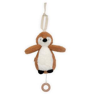 Jollein Jollein Muziekhanger Pinguin | Caramel