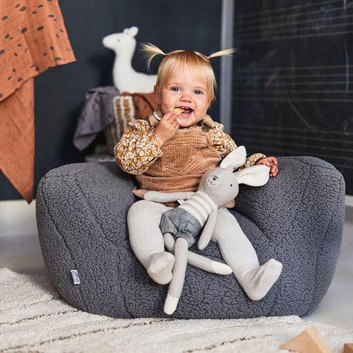 Jollein Jollein kinderstoeltje Beanbag Teddy | Storm Grey