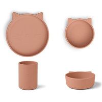 Liewood Cyrus silicone junior set | Cat Dark Rose