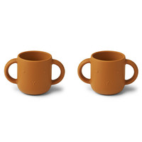 Liewood Gene silicone cup - 2 pack | Rabbit Mustard