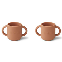 Liewood Gene silicone cup - 2 pack | Cat Tuscany Rose