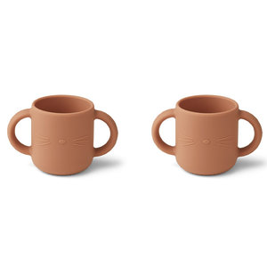 Liewood Liewood Gene silicone cup - 2 pack   Cat Tuscany Rose