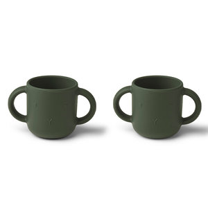 Liewood Liewood Gene silicone cup - 2 pack | Rabbit Hunter Green
