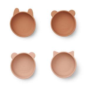Liewood Liewood bakjes Iggy silicone bowl | Tuscany Rose mix  (set van 4)