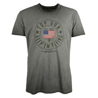 Top Gun TG-126 Tshirt oily washed anthracite