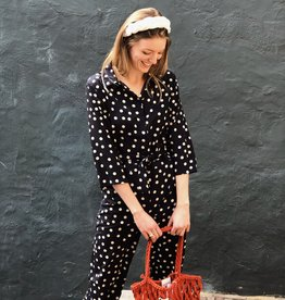 Make My Day Jumpsuit Dots Navy