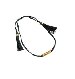 Xzota Bracelet Woven Merci Gold/Silver/Green