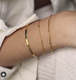 Xzota Bracelet Chain Bar Gold/Silver