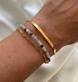 Xzota Bracelet Chain Square Gold/Silver