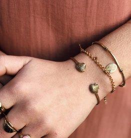 2 The Moon 'n Back Bracelet Charm Gold