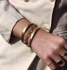 2 The Moon 'n Back Bracelet Tiger Bangle Gold