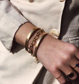 2 The Moon 'n Back Bracelet Chain Gold