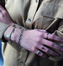 2 The Moon 'n Back Bracelet Chain Silver