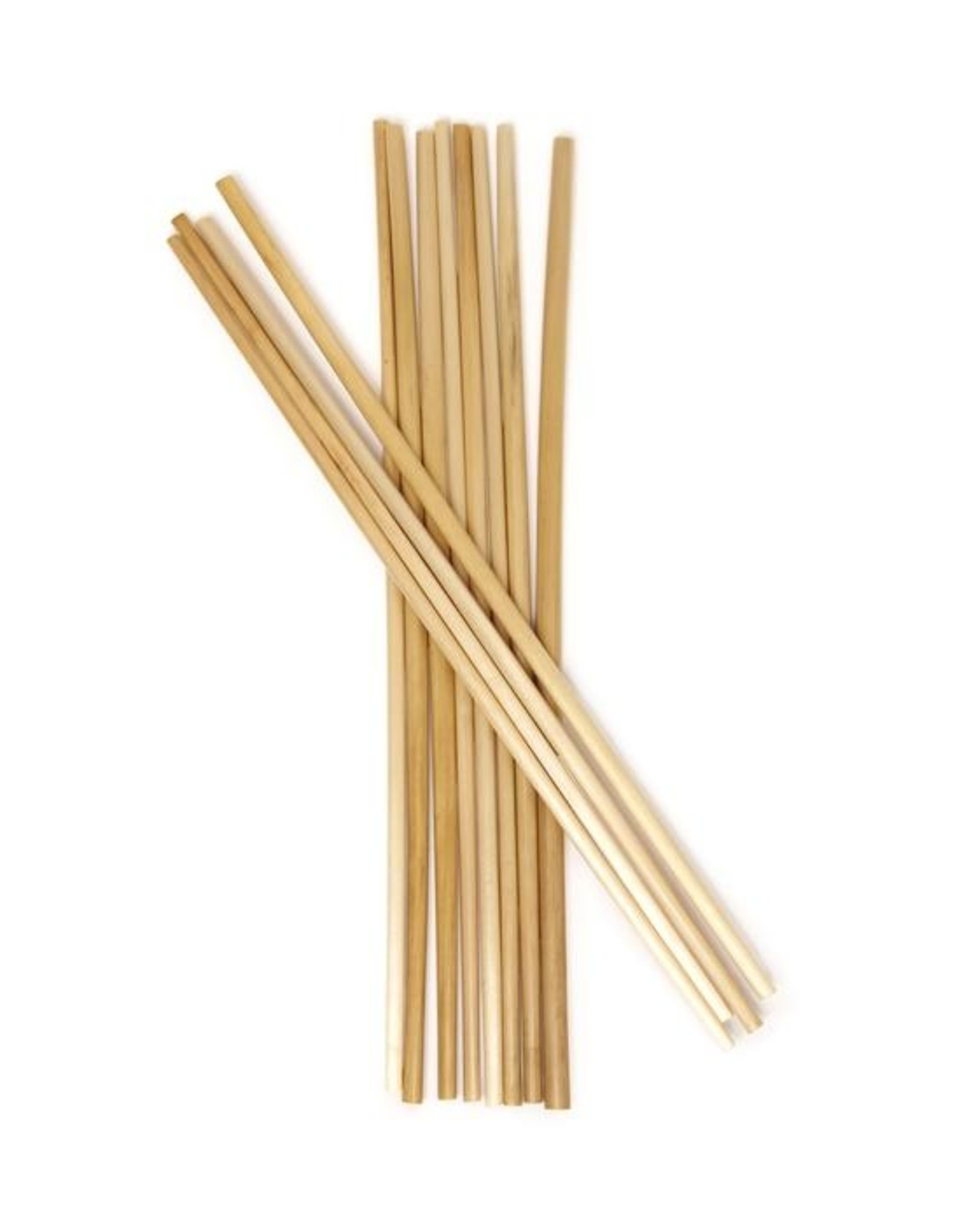 Kikkerland Kikkerland Natural Bamboo Straws 8 pieces