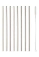Kikkerland Kikkerland Stainless Steel Straws 10 pieces