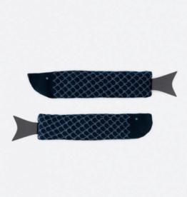 DOIY Fish Socks Navy