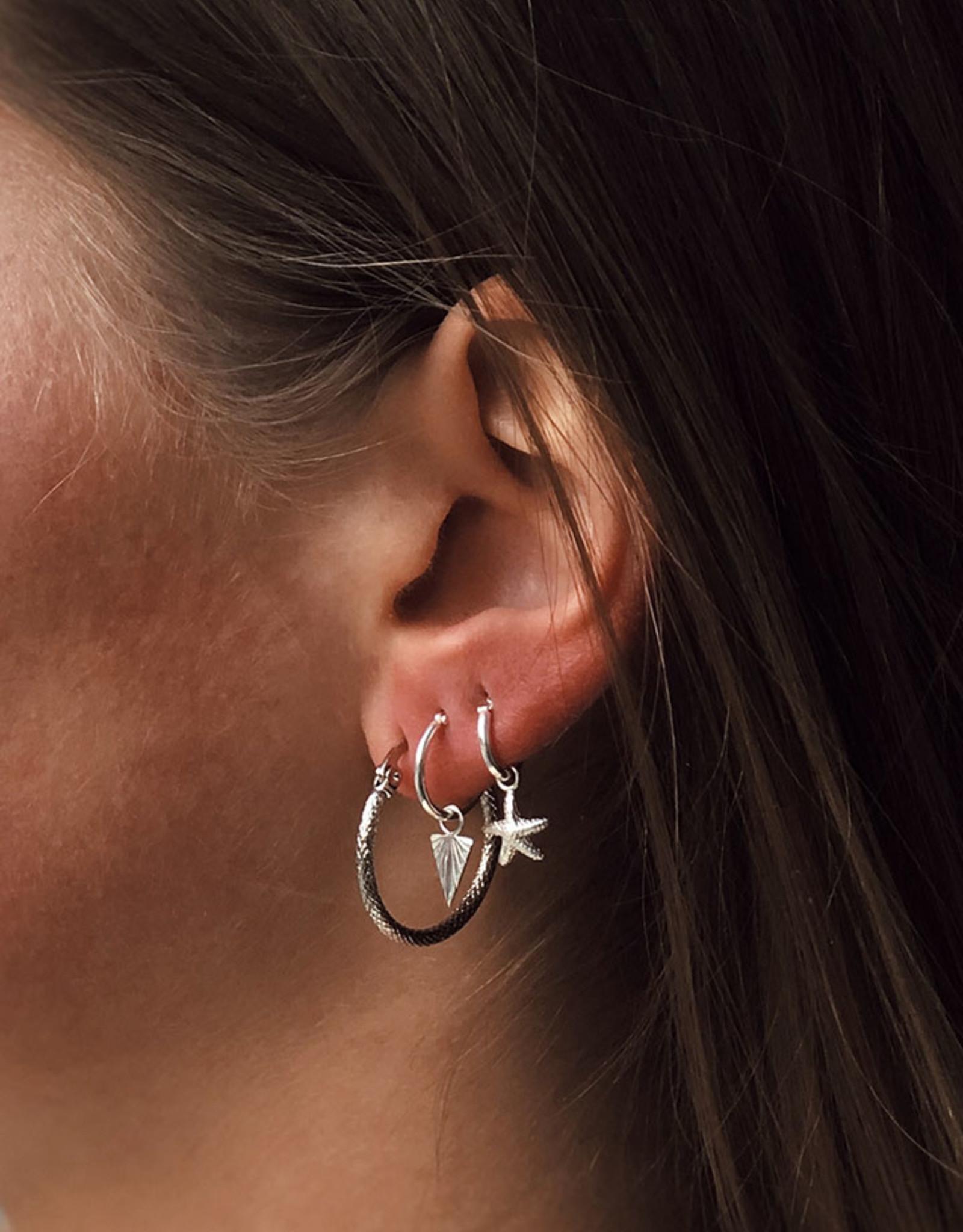 2 The Moon 'n Back 2 The Moon 'n Back Earring Snake Hoops Gold/Silver