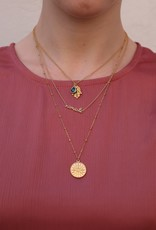 2 The Moon 'n Back 2 The Moon 'n Back Necklace Blue Good Luck Gold