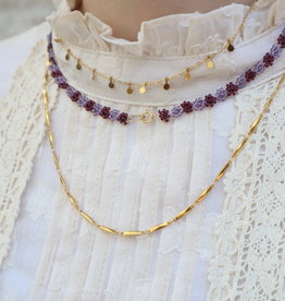 2 The Moon 'n Back Necklace Golden Vintage Chain