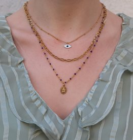 2 The Moon 'n Back Necklace Big Chain Basic Gold