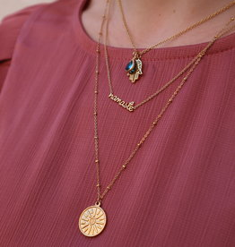 All the Luck in the World Necklace Urban Namaste Gold/Silver
