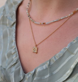 All the Luck in the World Necklace Charm Moon/Star Gold