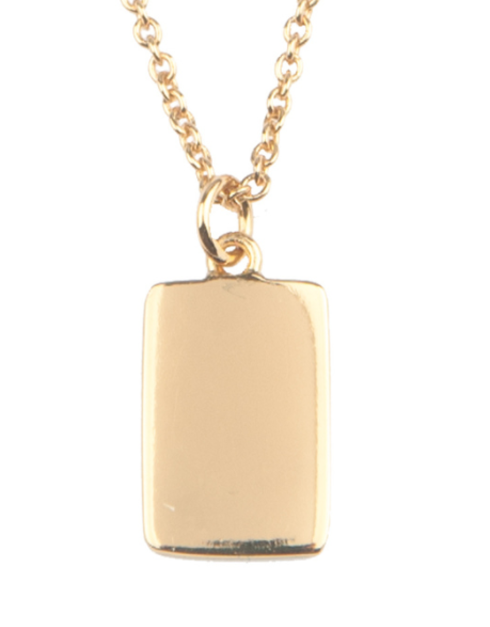 All the Luck in the World All the Luck in the World Necklace Charm Rectangle Gold