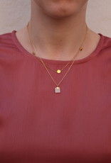 All the Luck in the World All the Luck in the World Necklace Galaxy Pastel New Jade Square Gold