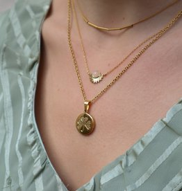 All the Luck in the World Necklace Galaxy Sun/Rquartz Gold