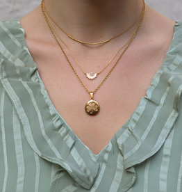 2 The Moon 'n Back Necklace Gold Good Luck