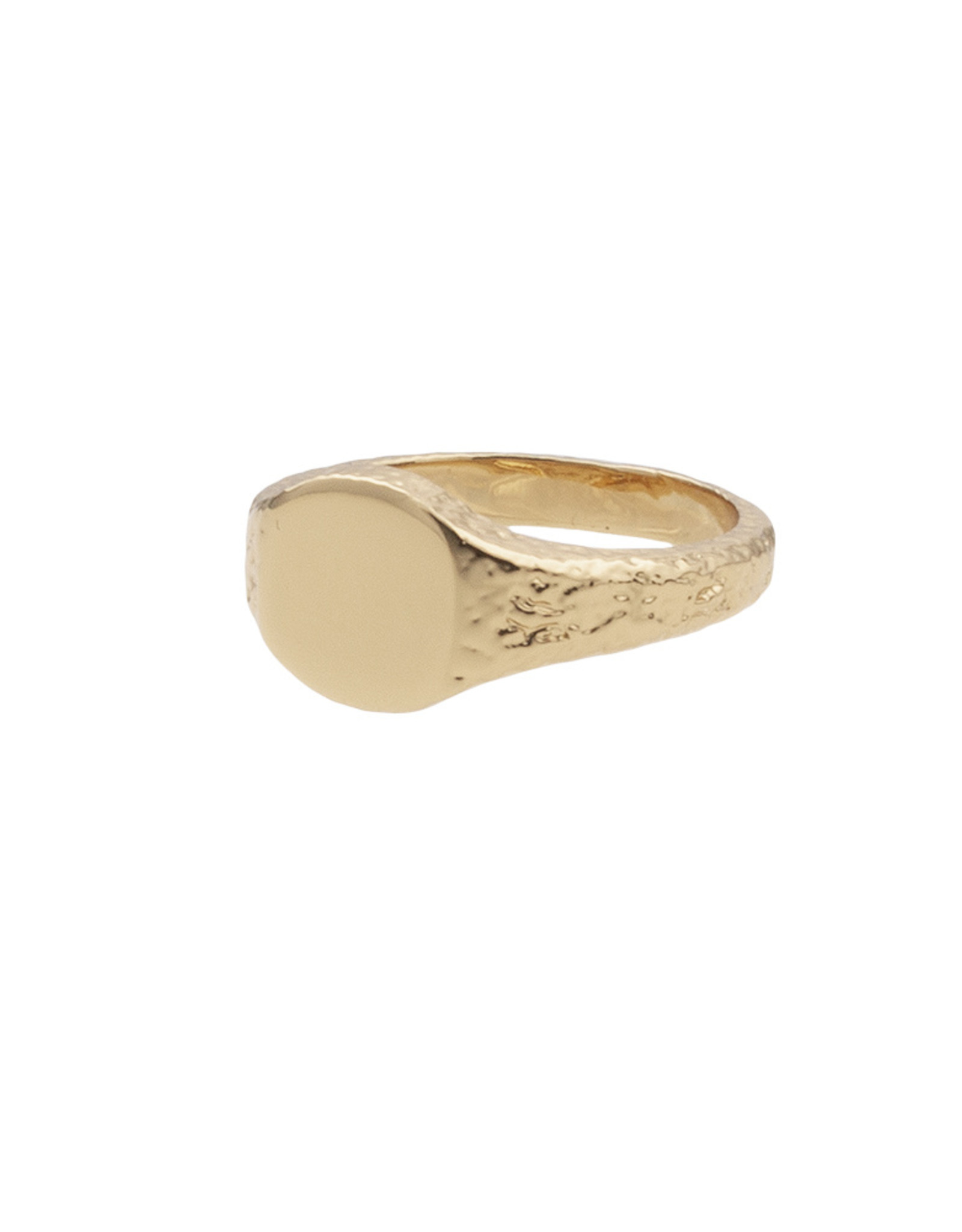 All the Luck in the World All the Luck in the World Ring Cherie Signet Oval Gold