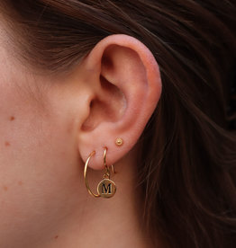 All the Luck in the World Earring Character Gold/Silver