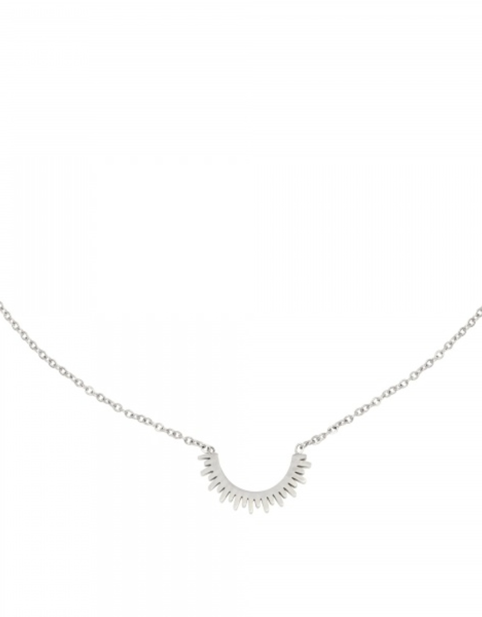 Make My Day Make My Day Necklace Silver Short