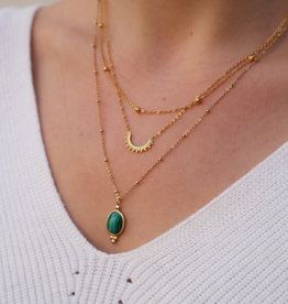 Make My Day Necklace Gold Short